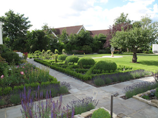 Traditional and Contemporary Mix Cherry Mills Garden Design Classic style garden