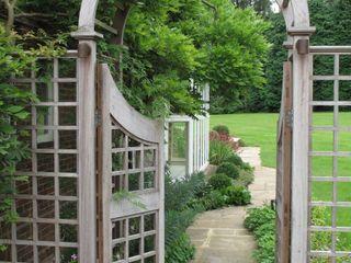 Country Family Garden With Oriental Water Garden Cherry Mills Garden Design Country style garden