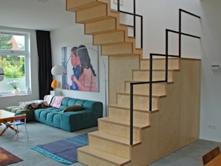 Blok Meubel Industrial style corridor, hallway and stairs