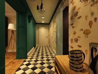 Apolonov Interiors Ausgefallener Flur, Diele & Treppenhaus