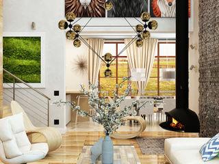 Apolonov Interiors Minimalistische Wohnzimmer