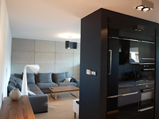 4Q DEKTON Pracownia Architektoniczna Scandinavian style living room