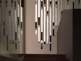 Sheen Lane BLA Architects Modern corridor, hallway & stairs