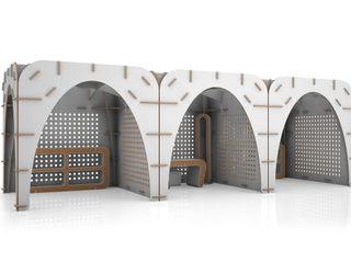 Gothìk Collection Origami Furniture Centros de exposiciones de estilo minimalista