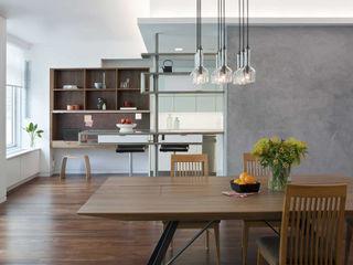 E 53rd St Apartment, NYC Eisner Design Ruang Makan Modern