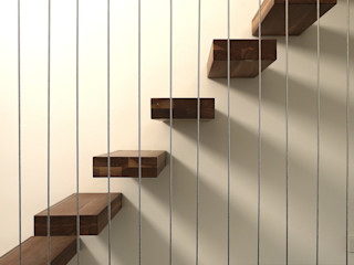Leonardus interieurarchitect Modern corridor, hallway & stairs