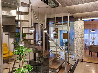 Mimoza Mimarlık Modern Corridor, Hallway and Staircase