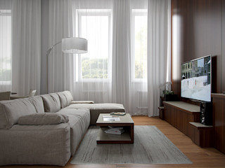 Архитектурное бюро Андрея Стубе Modern Living Room