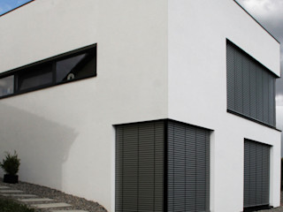 Neubau WOHNHAUS di architekturbüro Minimalistischer Multimedia-Raum