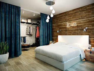 CO:interior Industrial style bedroom