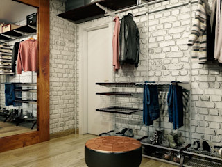 CO:interior Industrial style dressing room