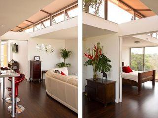Container Häuser und Modulbau Immoservice Knopf Moderne Wohnzimmer