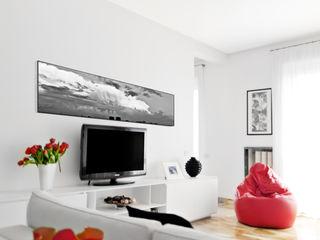 PAZdesign Salas de estilo moderno Blanco