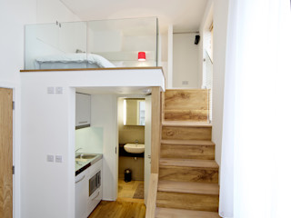 Student Accommodation - SW10 Ceetoo Architects Pasillos, vestíbulos y escaleras de estilo moderno