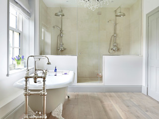 Drummonds Case Study: Georgian Farmhouse, Surrey Drummonds Bathrooms BathroomBathtubs & showers