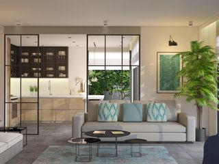 BODRUM YALIKAVAK SAKLIKORU Esra Kazmirci Mimarlik Living roomSofas & armchairs