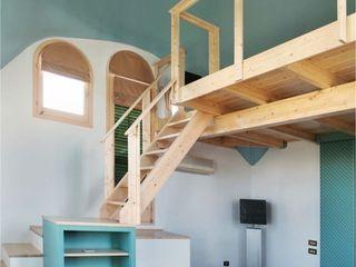 ALTILLO PARA APARTAMENTO EN CÚPULA MODERNISTA (BARCELONA) mobla manufactured architecture scp Dormitorios de estilo minimalista