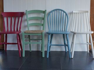 Hand Painted Dining Chairs Rectory Blue Dining roomChairs & benches