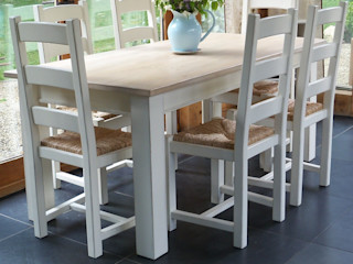 Hand Painted Dining Tables Rectory Blue Dining roomTables