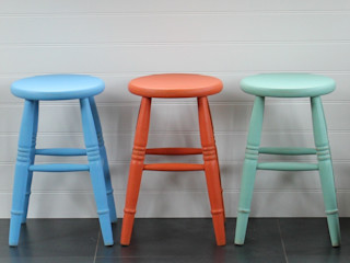 Hand Painted Stools Rectory Blue Dining roomChairs & benches