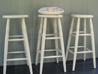 Hand Painted Stools Rectory Blue KitchenTables & chairs