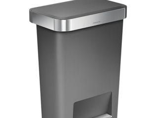 55 litre rectangular pedal bin with liner pocket simplehuman CucinaContenitori & Dispense