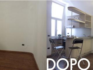 Home staging di una monocamera con soppalco in affitto a Napoli archielle