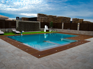 espacio de relajación exterior ZimmeR designer Piscinas de estilo moderno