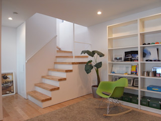 Studio R1 Architects Office Eclectic style corridor, hallway & stairs