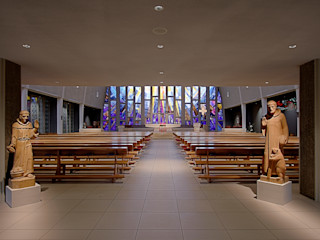 Kath. Kirche St. Gallus . Zürich 2012 . BKG Architekten AG nachtaktiv GmbH