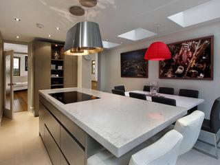 Grey Kitchen with Island Elan Kitchens Dapur Modern