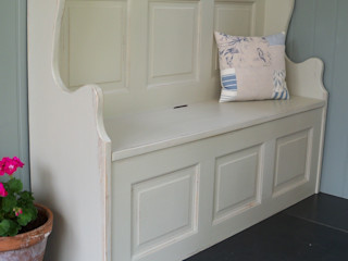 Hand Painted Storage Benches and Boxes Rectory Blue Corridor, hallway & stairsSeating