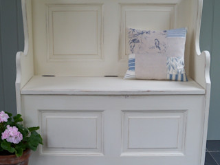 Hand Painted Storage Benches and Boxes Rectory Blue Corridor, hallway & stairsStorage