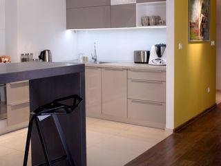 Mieszkanie 64m2 M+ DESIGN Marta Dolnicka Marchaj Minimalistyczna kuchnia