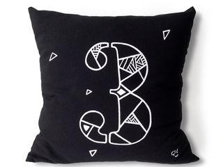 Numbers of Luck pillow series Carbon Dreams by Gül Arı Ev İçiTekstil Ürünleri