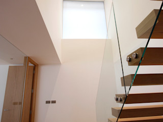 North London House Extension Caseyfierro Architects Modern Corridor, Hallway and Staircase