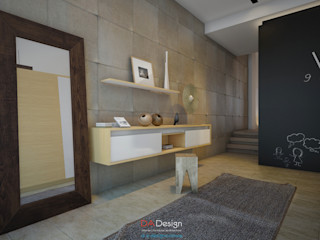 DA-Design Pasillos, vestíbulos y escaleras minimalistas