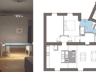 2bn architetti associati Salones de estilo moderno