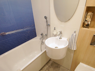 Aleksandra Jaros Pracownia Architektury i Wnętrz Mediterranean style bathroom