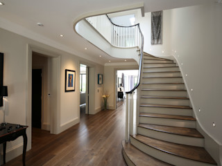 White Croft Zodiac Design Modern corridor, hallway & stairs
