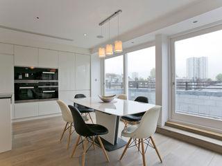 Adamson Road, Swiss Cottage, London, NW3 Temza design and build Comedores de estilo moderno