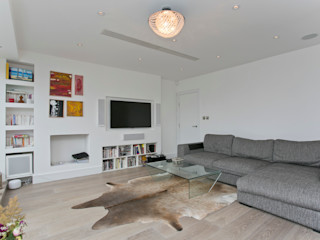 Adamson Road, Swiss Cottage, London, NW3 Temza design and build Salas de estilo moderno