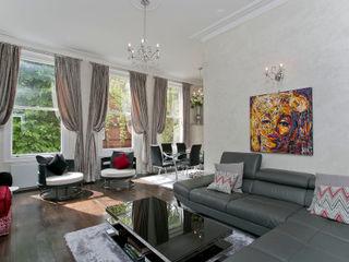 Courtfield Road, Kensington, London, SW7 Temza design and build Salas de estilo moderno
