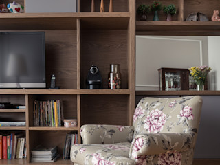 Blacher Arquitetura Eclectic style living room