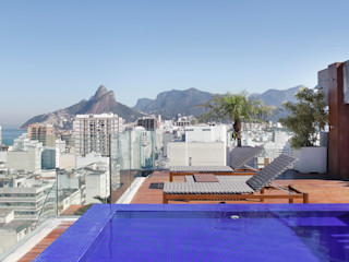 House in Rio Modern balcony, veranda & terrace