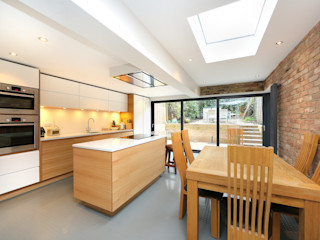 kitchen extension dulwich with flat roof and open brickwork homify Modern kitchen
