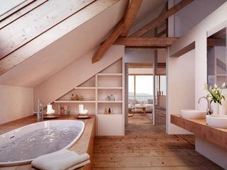 von Mann Architektur GmbH Baños de estilo rústico
