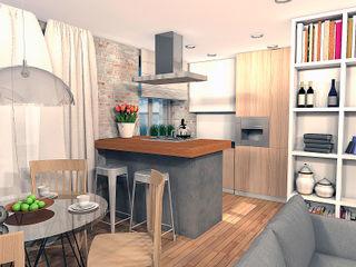 A.workshop Industrial style kitchen