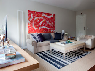 Pereira Reade Interiores Eclectic style living room