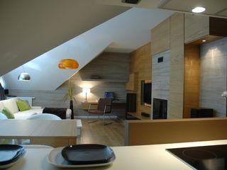 formativ. indywidualne projekty wnętrz Salas de estilo moderno